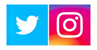 Image result for Twitter and Instagram logo