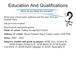 qualifications in cv example writing qualifications on cv how to write the qualifications