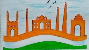 Independence Day Chart Work How To Draw Independence Day Drawing