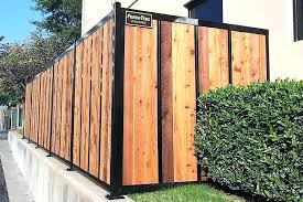 metal wood fence wood fence with metal posts wood framed corrugated metal fence