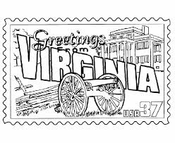 Small Picture USA Printables Virginia State Stamp US States Coloring Pages