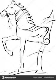 Tetování Koně Design Stock Vektor Ajayshrivastava 164492602