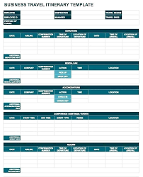Travel Itinerary Planner Impression Primary And Excel Template ...