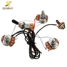 1set 3 way 2v1t 500k metal plastic electric guitar wiring harness electric guitar wiring harness on ebay 1set 3 way 2v1t 500k metal plastic electric guitar wiring harness open toggle switch with