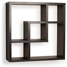 geometric square wall shelf with 5 openings contemporary display interlocking wall shelves