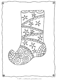 Small Picture Christmas Stocking Coloring Pages Stocking Coloring Pages To Print