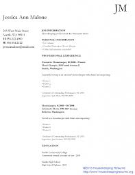 housekeeping resume templates residential housekeeper resume sample download housekeeping resume