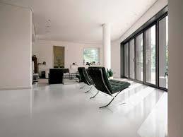 iron white polished porcelain floor