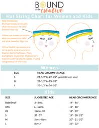 Hat Size Chart By Age How To Measure Your Head For The Best Fit Bound To Be Creative