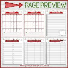 Christmas Planner Kit Full Size Undated Printable My Computer