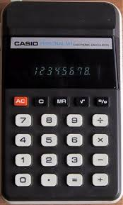 casio personal m the m1 was a very popular four function calculator square roots and percentage from 1977 it was small and pocket sized it was easy to hold and