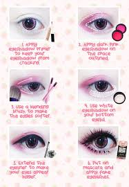 thanks to ichigoflavor for this kawaii eye makeup tutorial using beuberry teddy bear pink circle lenses circle lenses e in various pattern an