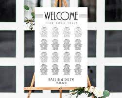 Art Deco Seating Chart Template Great Gatsby Seating Chart Art Nouveau Seating Chart Wedding Seating Chart Poster Seating Plan 4 Sizes