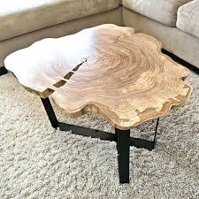 table live edge round table coffee decorating wood bases walnut