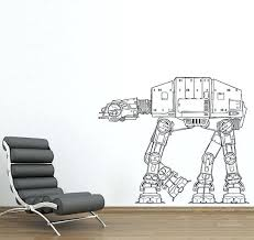 star wars wall star wars at at walker vinyl wall decal star wars wall decals canada