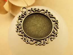 beads jewelry making 100 pcs bezel pendant trays round cabochon settings trays pendant blanks 25mm crafts