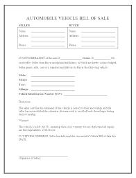 Copy Bill Of Sale Truck Bill Of Sale Template Dealer Bill Of Sale Template