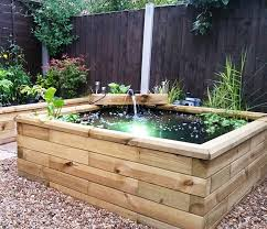 raised wooden garden ponds made to measure
