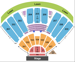 Concord Pavilion Seating Chart With Rows Concord Pavilion Seating Chart Concord