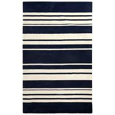 brown and white striped rug this hand loomed rug in percent wool makes a style statement in navy and brown white striped rug