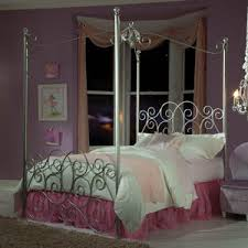Twin canopy bed | ideas for house | Princess canopy bed, Metal ...