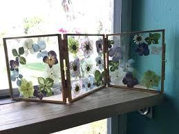 pressed flowers in glass frames pressed flower frame floating gold frame triple glass frame pressed flowers in glass frames
