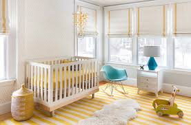 yellow nursery design