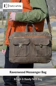 Messenger Bag Pattern Gorgeous Ravenwood Messenger Bag PDF Pattern Release Betz White