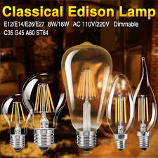 image is loading dimmable old edison filament led bulbs chandelier candle