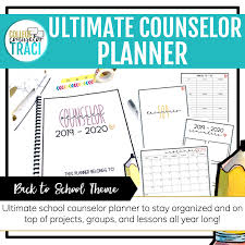 College Planners 2020 School Counselor Planner 2019 2020 Back To School Theme