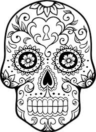 Small Picture Day of The Dead Skull Coloring Pages Bestofcoloringcom