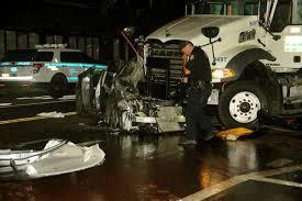 Car slams into DOT truck in Murray Hill, critically injuring 2 - NY ...