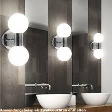 2er Set Led Glas Wand Lampen Kugel Leuchten Badezimmer Spiegel