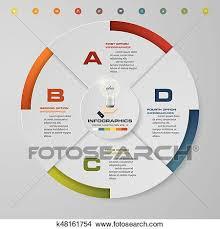 Modern Pie Chart Abstract 4 Steps Modern Pie Chart Infographics Elements