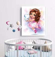 fairy wall art baby girl nursery wall