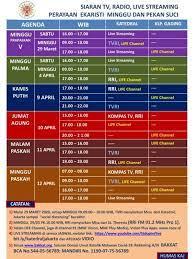 Jadwal misa tvri 2021 / atalanta vs napoli prediksi, jadwal siaran coppa italia di. Keuskupan Agung Jakarta Perpanjang Masa Darurat Covid 19 Misa Pekan Suci Secara Online Strategi Id
