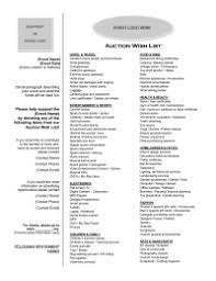 silent auction program template auctions pto today