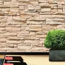 This <b>Stone Wall Printed</b> Mural is so realistic you have to touch it to ...