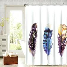 fabric shower curtains new colourful feather shower curtains polyester fabric shower curtain fashion bathroom cor thicken fabric shower curtains