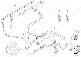 Fuel lines for bmw 5' e60 530d m57n sedan ece bmw spare