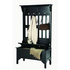 Cherry Finish Wood Hall Tree Coat Rack Home Styles' Hall Tree and Storage Bench by Home Styles Brown 28
