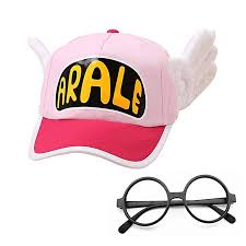 lovely arale cap with angel wings hat for kid cosplay costume party props black frame