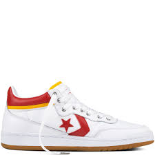 converse fastbreak pro mid leather mid tops mens white red shoes 298rypkz