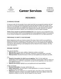 Resume Summary For College Student | Samples Of Resumes with Resume Summary  For College Student