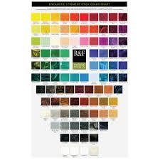 R F Encaustic Wax Paint Hand Painted Colour Chart