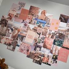 peachy pink collage kit wall