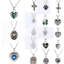 details about silver cremation jewelry keepsake memorial pendant urn necklace ashes holder