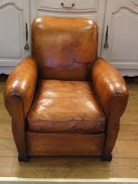 f379s compact vintage french leather club chair la retro leather club chair