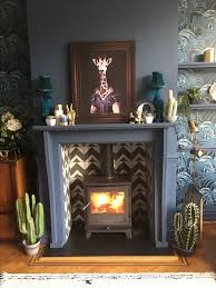 newly ed fire in our 1901 arts crafts house custom made fireplace and bert