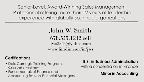 Order The Resume Business Card